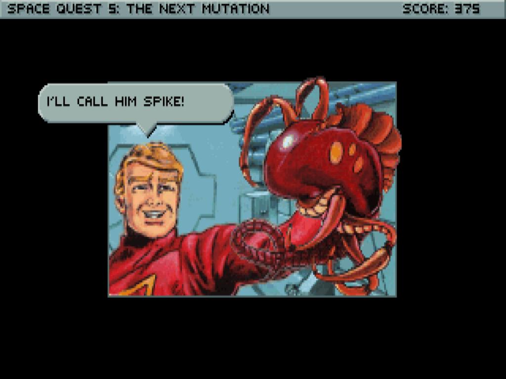 Start Trek nie je ale jediný cieľ vtipov. Na votrelca sa nezabudlo. Spike bude nesmierne užitočný.
